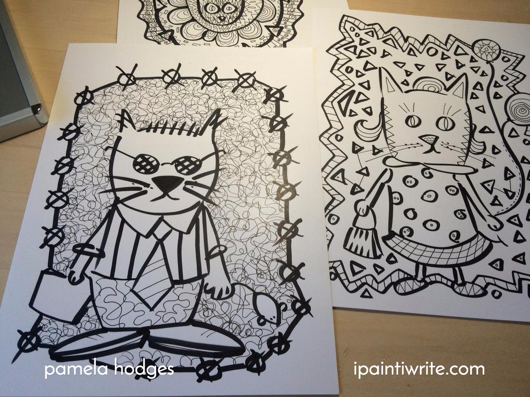 Color cats like - Pages For The Cat Coloring Book I Wish I Had Thumbs I Want To Draw